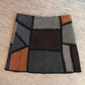 Suede quilted Zara skirt